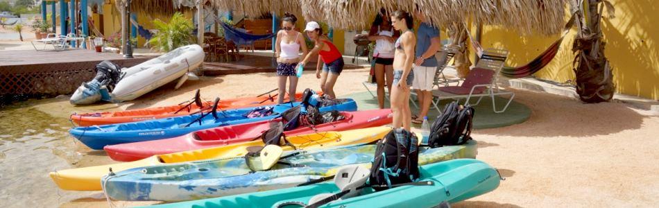 Watersports like Kayaking