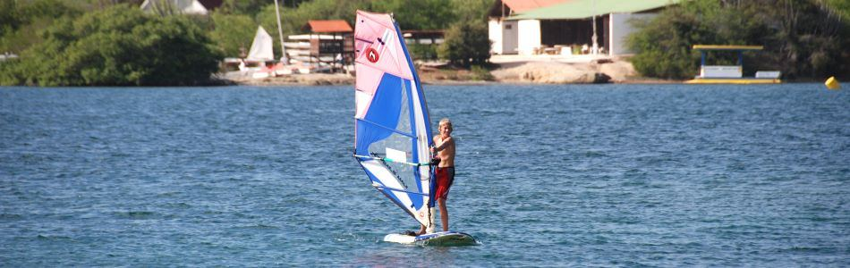 Caracas Baai is close - easy place to learn Windsurfing